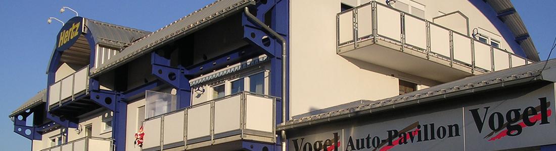 Stahlbau: Auto-Pavillion Vogel, Aschaffenburg